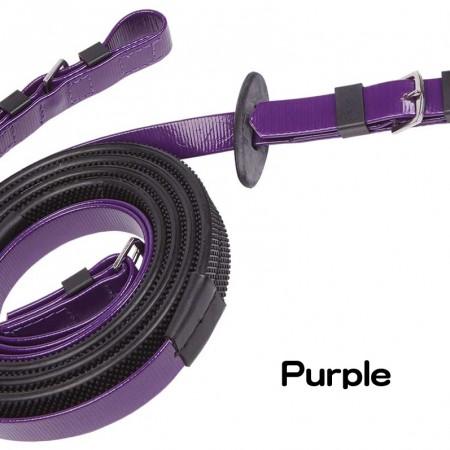 Zilco19mmスモールディンブルゴム手綱紫