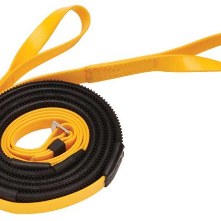 Zilcoレース用16mmスモールピンプルゴム・手綱 ループ145㎝黄色