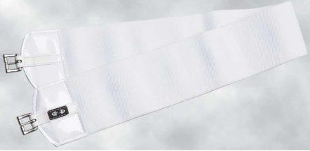 ZilcoUSスタイル330gレース用下腹帯ダブルエラスティック110㎝ 白