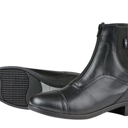 SAXONジッパー付きパドックブーツ黒