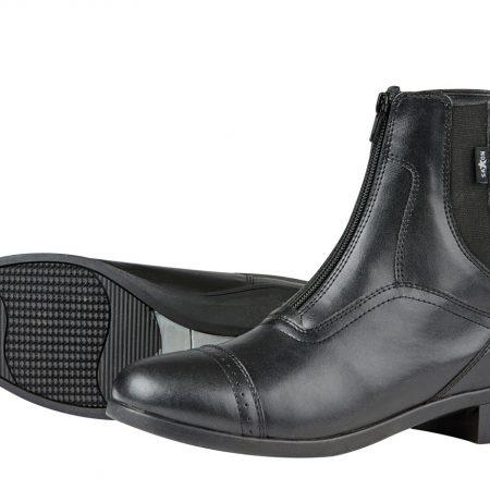 SAXONジッパー付きパドックブーツ黒2