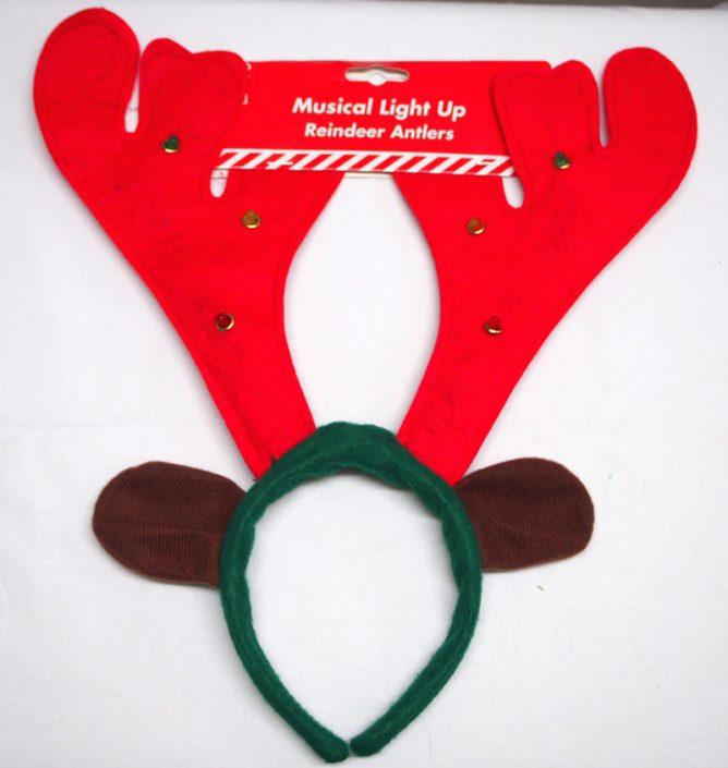 11.Reindeer Antlers-ミュージック付きフラッシュ付きトナカイカチューシャ