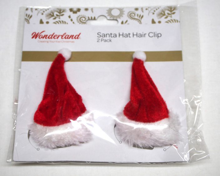 13.Santa Hat Hair Clip-サンタハットヘアークリップ