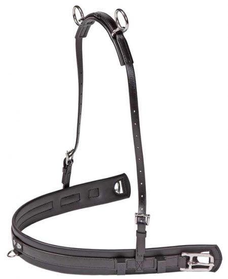 Zilcoミニチュアホース用SL馬車ハーネス・胸ガイ
