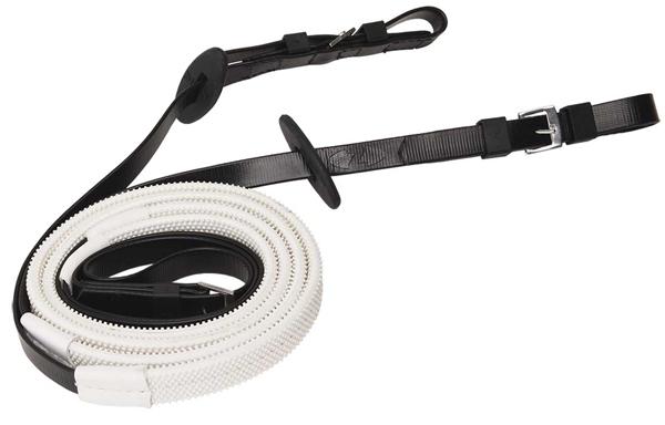 Zilcoレース用16mmスモールピンプルゴム手綱145㎝ (白グリップ)